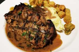 Meatloaf with Okra and Mashed